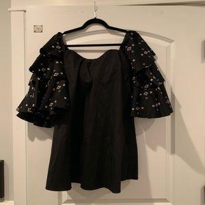 Caroline Constas Carmen Ruffle Dress XS